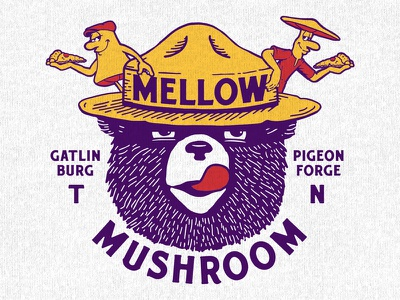 Mellow Mushroom - Gatlinburg, TN apparel t-shirt mountains pizza threds bear gatlinburg smoky mellow mushroom