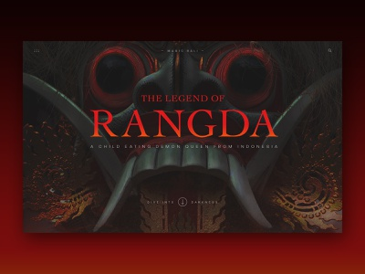 The Legend of Rangda legend folklore mythology bali rangda submission halloween creepy scary ui magfam website design web mocktober
