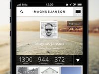 UX/iOS/UI iPhone - work in progress
