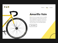 Daily UI #003 - Landing Page, Fixed Gear Bike