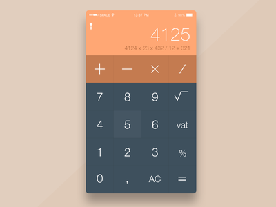 DailyUI #004 - Calculator calc math numbers dark light simple calculator 004 dailyui