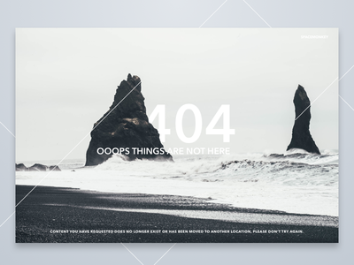 DailyUI #008 - 404 page black and white 404 not found landing 404 page 008 dailyui
