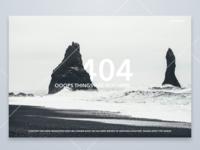 DailyUI #008 - 404 page