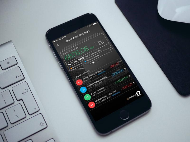 Dribbble linus ekenstam banking ui 2014
