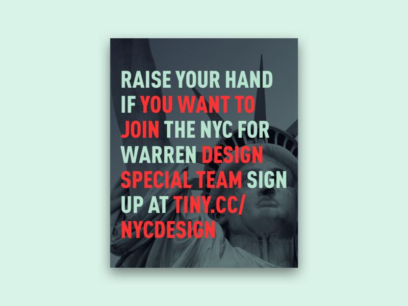 Warren Campaign Volunteer Social Graphics liberty green elizabeth warren politics typography