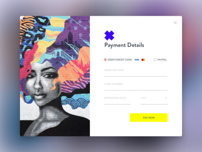 Daily UI 02: Credit Card Checkout modal payment form web visa credit card ecommerce checkout dailyui