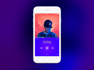 Daily UI 09: Music Player that blue blue purple chance music player music ios iphone8 iphone dailyui