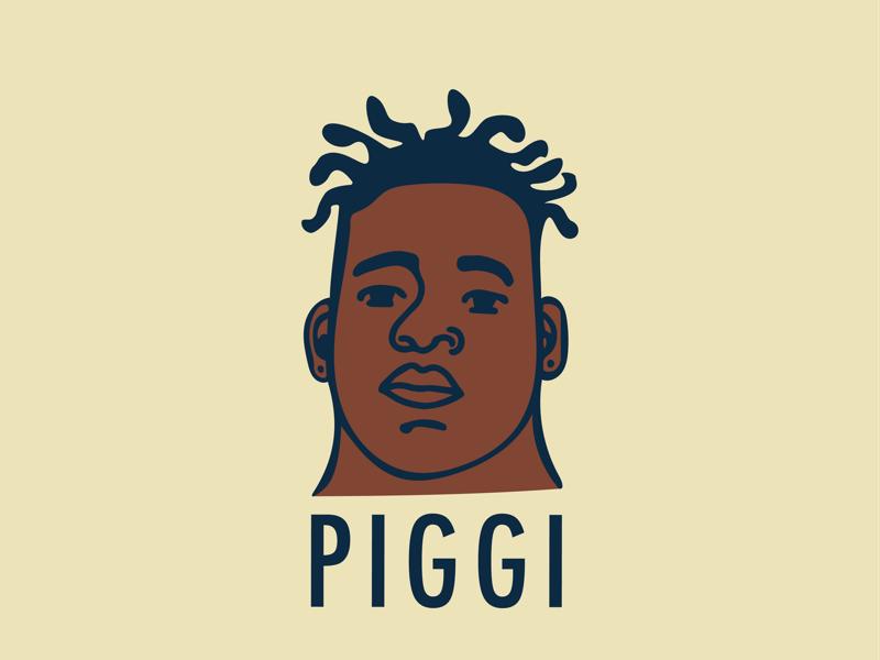Piggi Network Logo organic whimsical illustration branding logo
