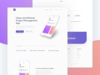 Project Management App Landing Page