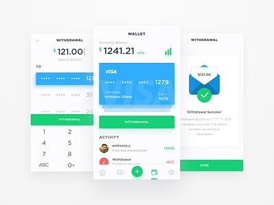 App for freelancer ui kit money finance wallet app iphone 8 iphone ios11 ios mobile