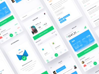 App for freelancer ui kit project freelance message app iphone 8 iphone ios11 ios mobile