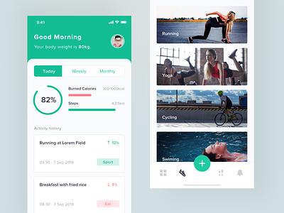 Health App activity sport body health app health iphone x ui kit iphone mobile ux ios clean app ui