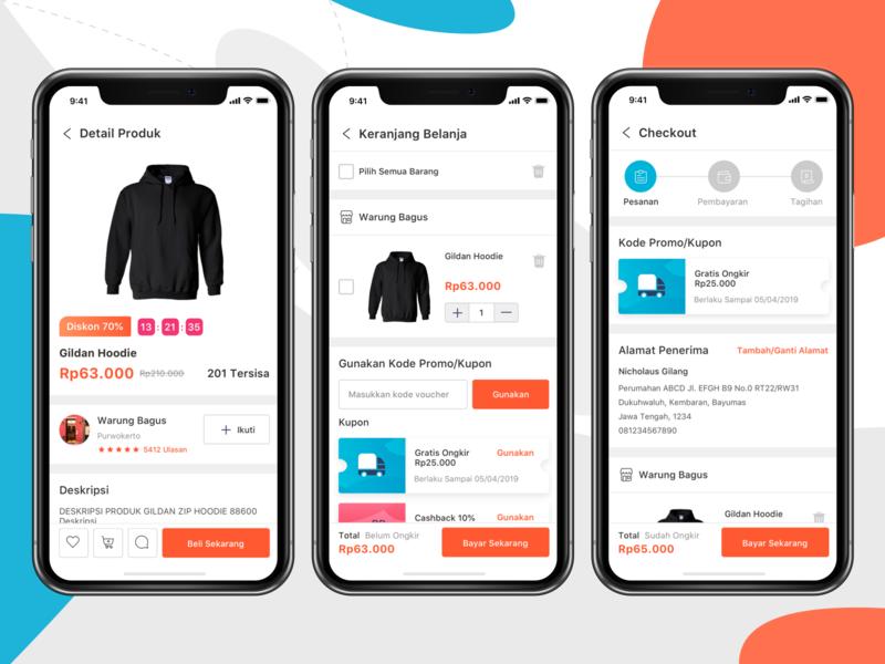 E-commerce App store marketplace market shop e-commerce design iphone x ios11 ui kit iphone mobile ios ux clean app ui