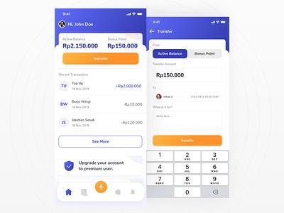 Fintech Wallet App - quick exploration money wallet fintech ios11 iphone x iphone ui kit ux mobile ios clean app ui