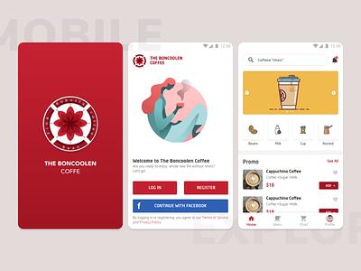 Coffee Mobile Applications - Exploration designchallenge uidesign typography minimalist illustration coffee shop design app design inteface coffe mobile apps ui design apps mobile ui mobile ui coffe