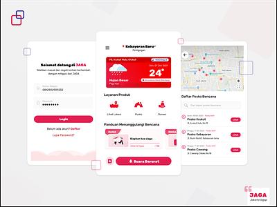 JAGA Applications : UI Design minimalist mobile apps ui designchallenge uidesign design disaster