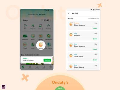Onduty's ux uidesign typography mobile apps minimalist illustration graphicdesign design branding app