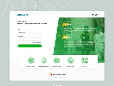 Redesign Landing Page - DOWA - PPLI webdesign designchallenge app uidesign typography minimalist illustration graphicdesign design branding