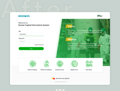Redesign Landing Page - DOWA - PPLI