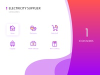 Electricity supplier icon