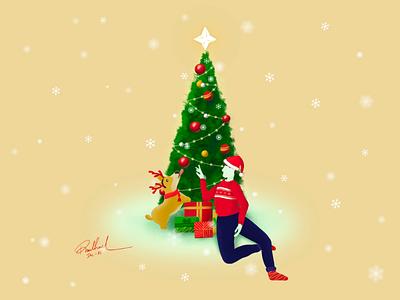 Merry Christmas procreate