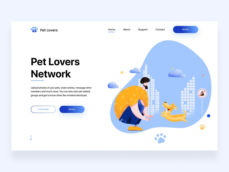 Landing Page Pet Lovers