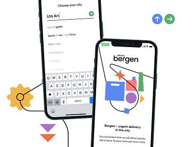 Bergen | Delivery App delivery branding card ux clean ui minimal