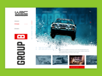 WRC — concept car extreme sport drive driver rally ux webdesign design ui concept