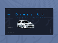 Honda Orthia — [Project]* clean landing creative logo design webdesign web typography car ui concept
