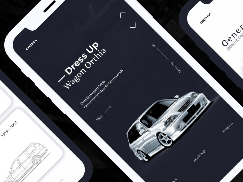 Honda Orthia — [Project]* app vector logo drive illustration creative clean ux webdesign web typography car ui concept