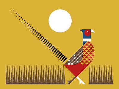 State Bird Series: Pheasant geometric vector sun prairie south dakota bird pheasant illustration design logo