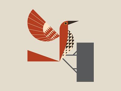 Brown Thrasher brown atlanta georgia bird logo bird illustration birds geometric design geometric illustration geometric art geometric illustration logo