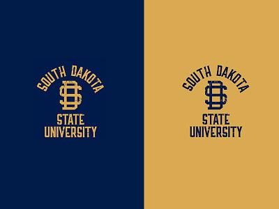 SD State Vintage Shirts shirts monogram university south dakota school blue navy yellow gold texture old vintage