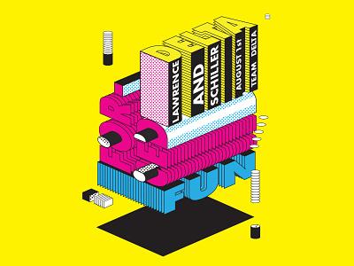 Poster Design illustration typography graphic design cmyk blend tool type color poster