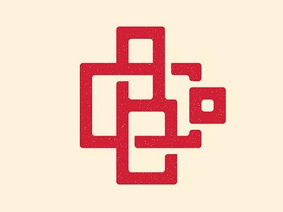 Circle B Vintage Logo texture patch identity brand grid graphic monogram vintage logos