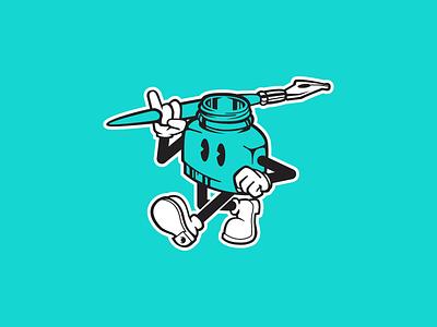 Print Shop Mascot mascot sticker icon retro vintage logo logos vector color