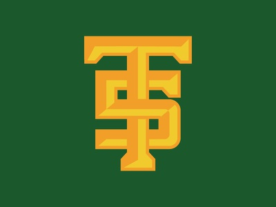 T+5 Baseball Logo baseball icon monogram logos logo