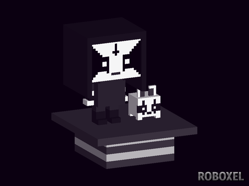 Black metal guy black metal voxelart metalhead qubicle voxels voxel art voxel