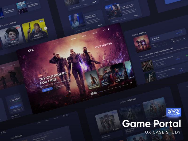 Game Portal Case Study website design payment methods payment case studies marketplace home page web design game ui trend trend ui dark mode dark ui game portal webdesign game ui web game ui game ux case study case study casestudy