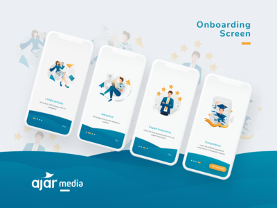 AJAR Media Onboarding Screen