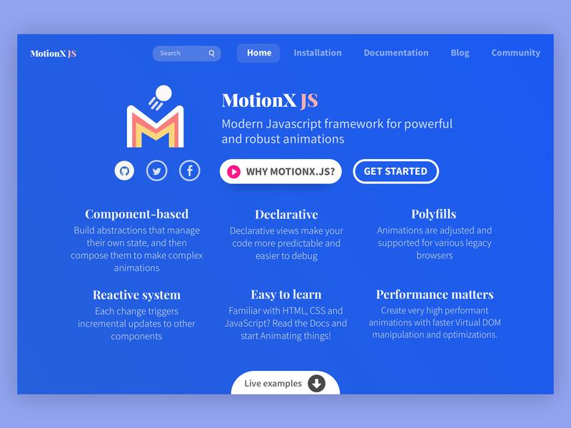 JavaScript Framework webpage ux  ui clean landing page modern website concept website framework javascript web design web webpage