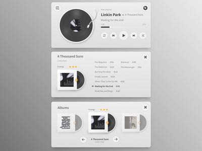 Minimalistic Music player widget