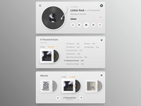 Minimalistic Music player widget