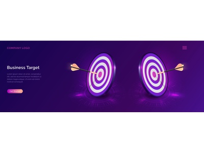 Business target isometric concept vector illustration. Two round isometry illustration concept competition circle business arrow app analysis aim achievement abstract tech isometric forecast center bullseye background accuracy target