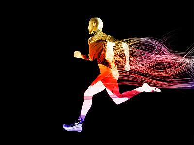 Running effects nikerunning banner flyer art design ad poster advertising speed nike running