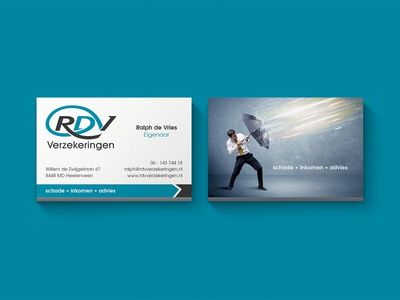 Logo & Business Cards RDV umbrella creative insurance cards corporate identity design logo business cards