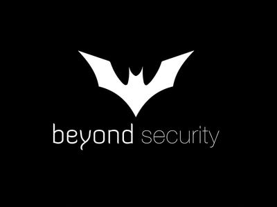 Logo Beyond Security blackandwhite creative identity badman beyond security corporate logo