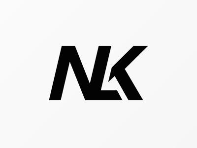 NLK logo monogram letter typography type brand symbols marks logos font symbol logo typo