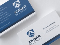 Logo and business cards Anwar Security
