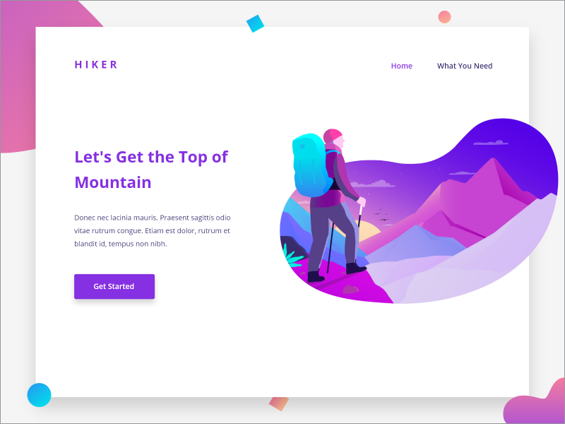 HIKER Landing Page by Benediktus Rafael for OWW